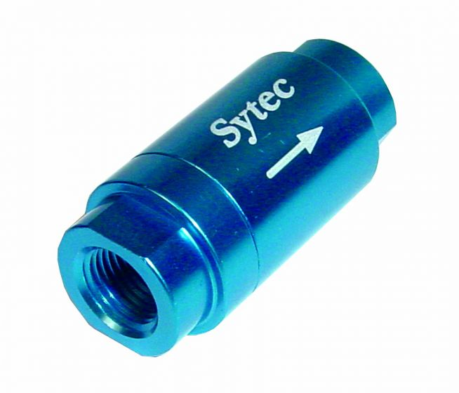 Sytec One Way Valve with 1//8 NPTF Female Connection Blue OWVS000B