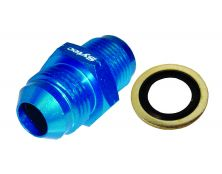 Sytec Alloy Straight Fuel Union Male/Male (Blue) 18x1.5 - Jic8