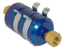 BULLET FUEL FILTER 16x1.5mm in 16x1.5mm out (Blue)