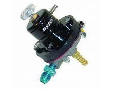 Sytec 1:1 Adjustable Motorsport Fuel Regulator (Jic6-8mm) Black