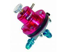 Sytec 1:1 Adjustable Motorsport Fuel Regulator (Jic6-Jic6) Red