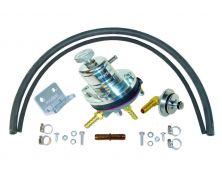 Sytec 1:1 Motorsport Adjustable Fuel Pressure Regulator Kit (Silver)