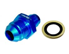 Sytec Alloy Straight Fuel Union Male/Male (Blue) 14x1.5 - Jic8