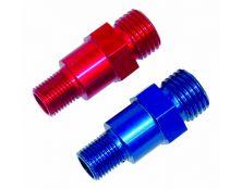 Alloy Male/Male Union 10x1 Male - M12 Male (Blue)