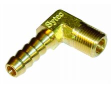 Sytec Brass 90 Degree Union 1/8 NPTF - 6mm (Facet 42733)
