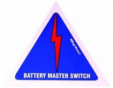 MSA001 STICKER - BATT. EARTH