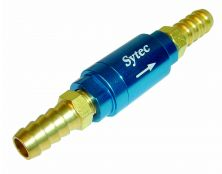 Sytec One Way Valve with 10mm push on tails (Blue)
