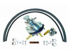 Sytec 1:1 Adjustable Fuel Pressure Regulator Kit (Silver)